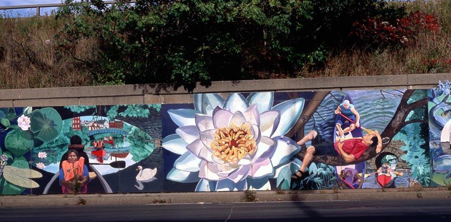 Have you seen the watershed mural in atlanta by artist for Atlanta mural artist