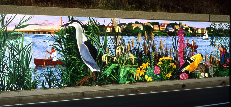 Have you seen the watershed mural in atlanta by artist for Atlanta mural artist